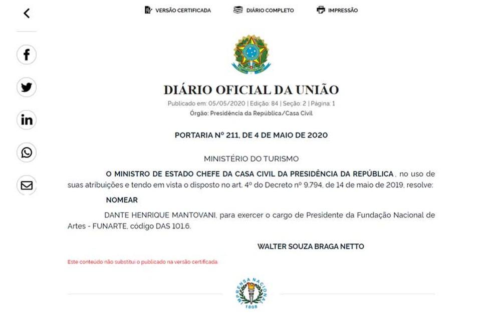 do - Demitido no dia da nomeação de Regina Duarte, maestro volta a presidir a Funarte