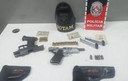 Polícia Militar apreende armas e prende 3 suspeitos em Campina Grande