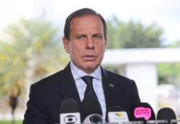 'O que estimula relaxar o isolamento das pessoas é a conduta do presidente', diz Doria