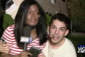 """eric 17379052 - Homem invade transmissão ao vivo e assedia repórter: """"comeria a b* dela"""""""