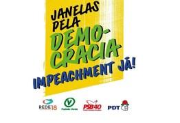 """VIA INTERNET: Partidos realizam ato """"Janelas pela democracia: impeachment já"""" nesta terça-feira (19)"""