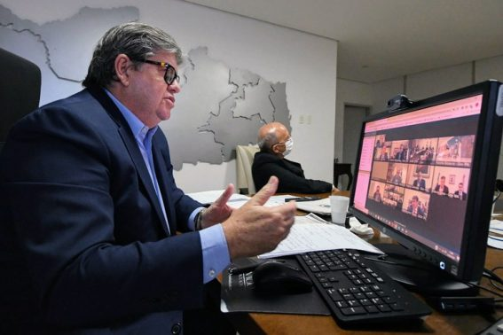 joao azevedo 1 567x378 1 - RESTRIÇÃO SOCIAL: prefeitos de Alhandra, Caaporã e Pitimbú também participam de reunião com João Azevêdo