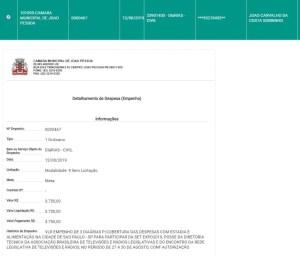 joao corujinha 2 300x256 - FARRA DAS DIÁRIAS: CMJP gastou R$ 60 mil com hospedagem e alimentação para bancar vereadores e servidores