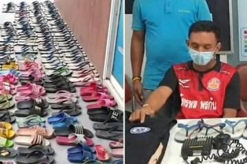 Homem é preso após furtar 126 pares de chinelos: 'Fazia sexo com eles'