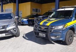 Polícia Rodoviária Federal apreende carro de luxo roubado que circulava com placa clonada em CG