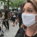 Capturar 15 - Repórter da GloboNews é empurrada ao vivo por policial nos EUA