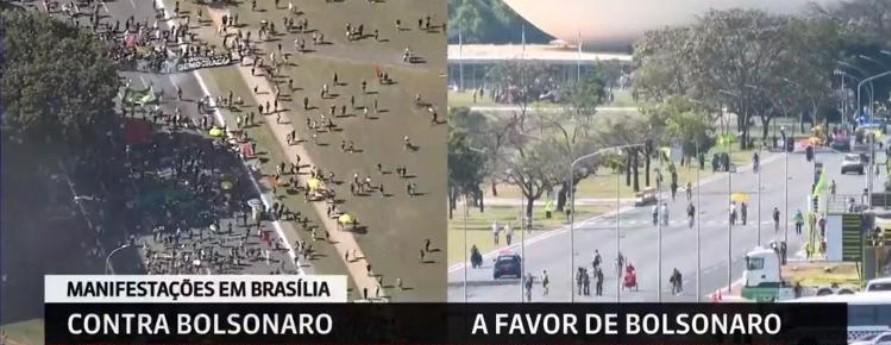 Capturar 24 - Manifestações pró e contra Bolsonaro acontecem neste domingo pelo país
