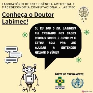 Dr. Labimec 300x300 - Pacientes do HULW podem tirar dúvidas sobre covid-19 com robô virtual criado pela UFPB