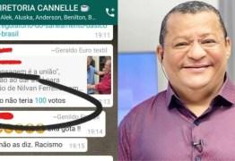 """""""ESSE MACACO NÃO TERIA 100 VOTOS"""": Nilvan Ferreira é alvo de racismo em grupo de WhatsApp"""
