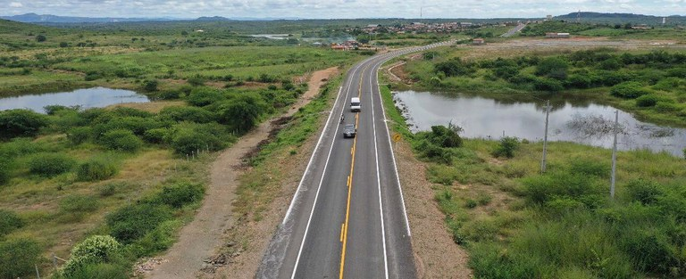 Rodovia BR 426 PB Dnit - Governo Federal entrega obras de pavimentação na BR-426, na Paraíba