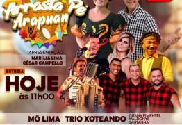 FORRÓ AO VIVO: estreia neste sábado (20), Arrasta Pé Arapuan 2020