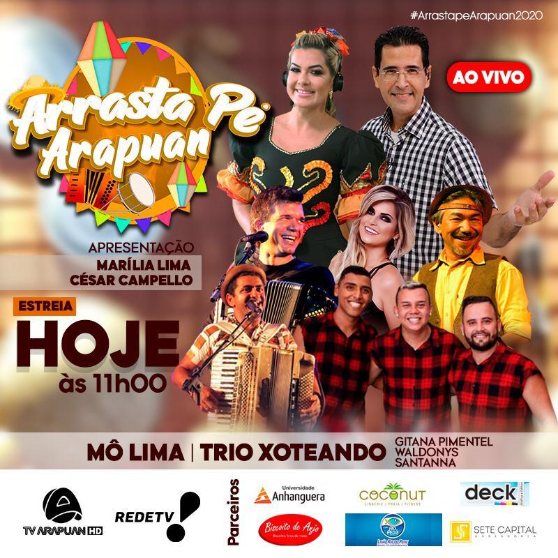WhatsApp Image 2020 06 20 at 10.12.04 - FORRÓ AO VIVO: estreia neste sábado (20), Arrasta Pé Arapuan 2020