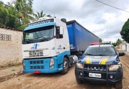 Polícia Rodovíaria Federal na Paraíba recupera caminhão furtado avaliado em mais de R$ 240 mil