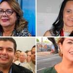 candidatos cartaxo - DÚVIDA PERSISTE: De olho nas eleições, Socorro Gadelha, Edilma Freire, Diego Tavares e Daniella Bandeira deixam PMJP