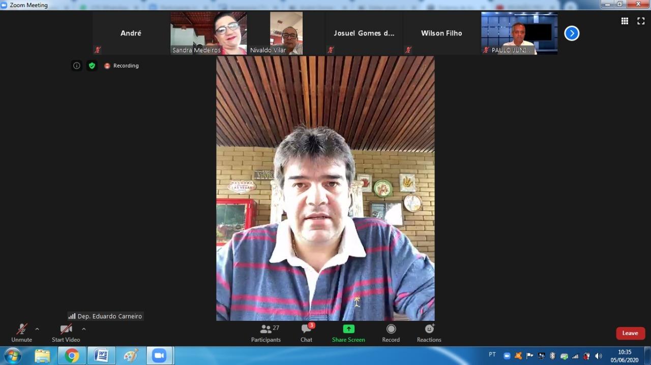 d9e1df90 4597 4f2f ab1f c78210950640 - Frente Parlamentar quer diálogo com Governo e criação de comitê permanente em defesa da economia paraibana