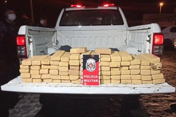 droga apreendida - Quatro homens são presos com mais de 80 quilos de maconha, em Bayeux, na PB