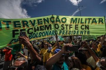 manifestação bolsonaro - Sites pró-governo transformaram atos antidemocráticos em negócio lucrativo, afirma PGR
