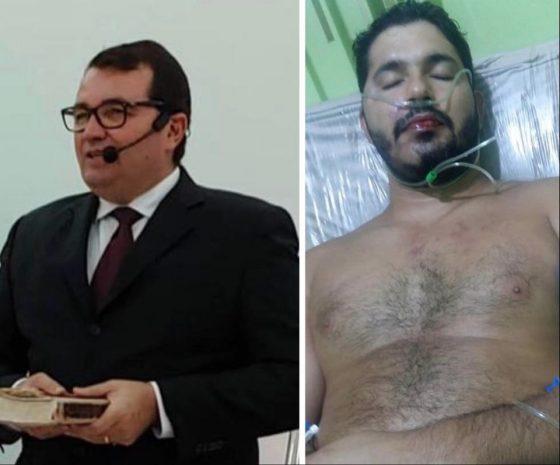 pastor e vitima 1 - 'Acusação falsa':advogado de pastor preso por tentativa de homicídio alega que ele tentava separar briga