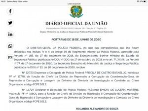 portaria fabiano pf 300x225 - Paraibano assume a Divisão de Repressão à Corrupção da Polícia Federal