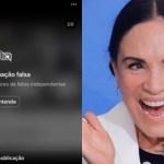 regina duarte recebe aviso de fake news em postagem 1591306502556 v2 900x506 - Instagram põe alerta de notícia falsa em nova postagem de Regina Duarte