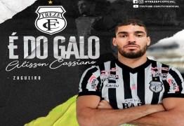 TERCEIRO REFORÇO: Treze anuncia nova contratação para sequência da temporada 2020