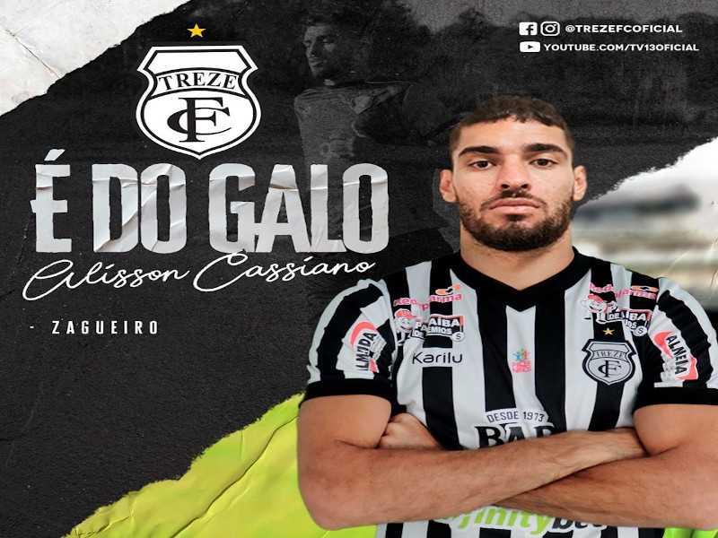 zagueiro - TERCEIRO REFORÇO: Treze anuncia nova contratação para sequência da temporada 2020