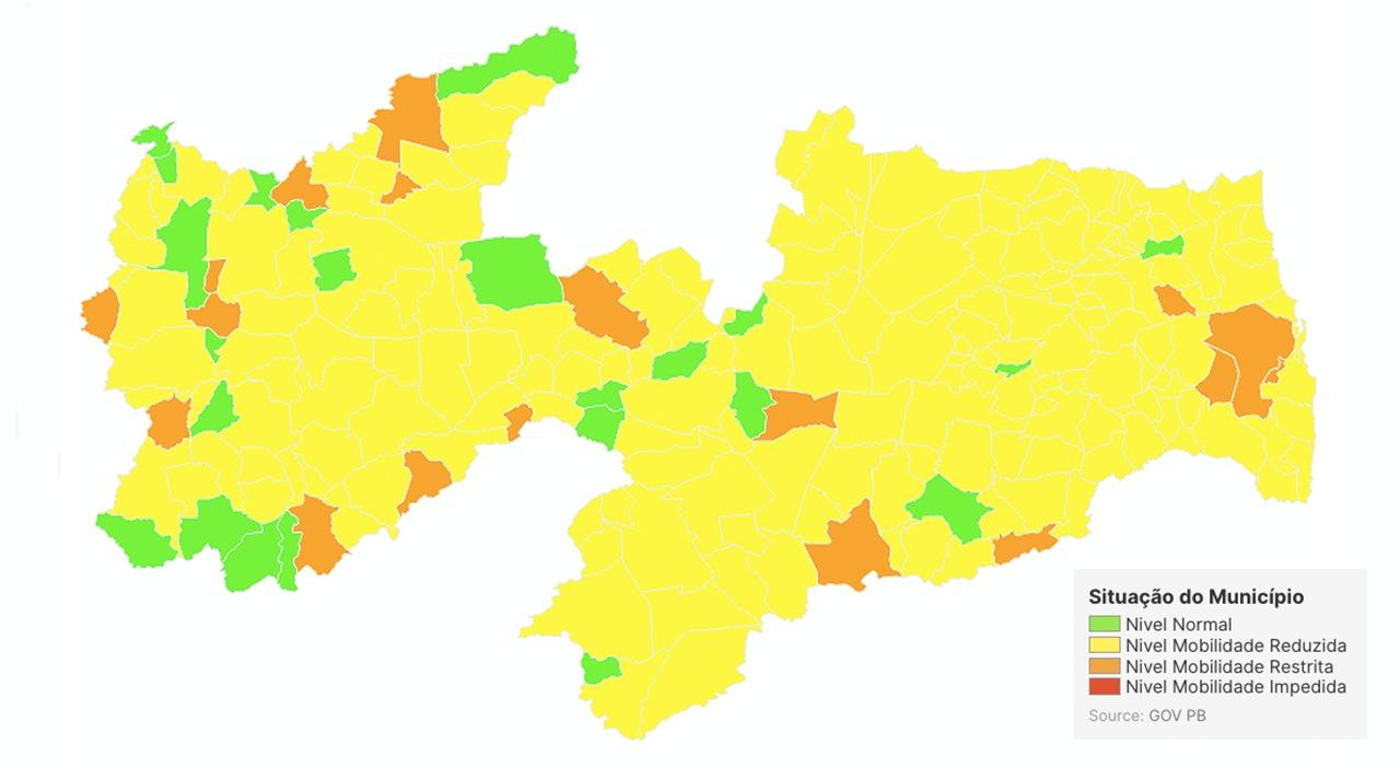 5961f24d cdf1 460c 8d2b beb8c53bc888 - 'PLANO NOVO NORMAL': Avaliação aponta que 182 municípios da Paraíba estão com bandeira amarela
