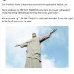 8602 DBEB92BFF37A4DAF - Trump usa imagem do Cristo Redentor em campanha para reeleição