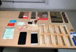 PM prende trio com 710 munições de diversos calibres, em João Pessoa