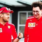 EVKCCutU4AAom8P - Chefe da Ferrari revela que equipe não renovou contrato com Vettel por causa da pandemia do novo coronavírus