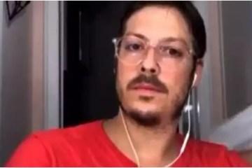 FÁBIO PORCHAT - Mulher de Fábio Porchat aparece seminua em live com Guilherme Boulos; VEJA VÍDEO