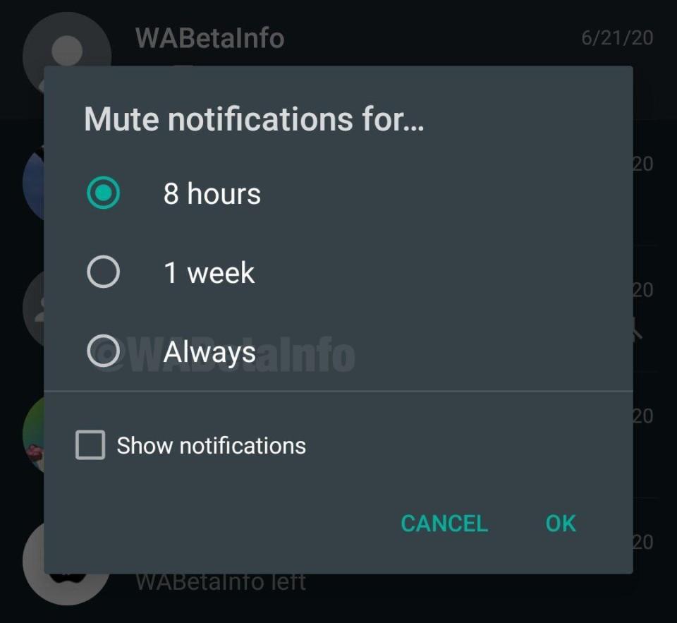 Mute Always Android 960x883 1 - WhatsApp testa ferramenta para silenciar grupos para sempre