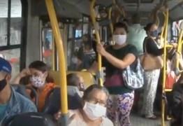 Ônibus de Campina Grande circulam lotados e passageiros não respeitam distanciamento social