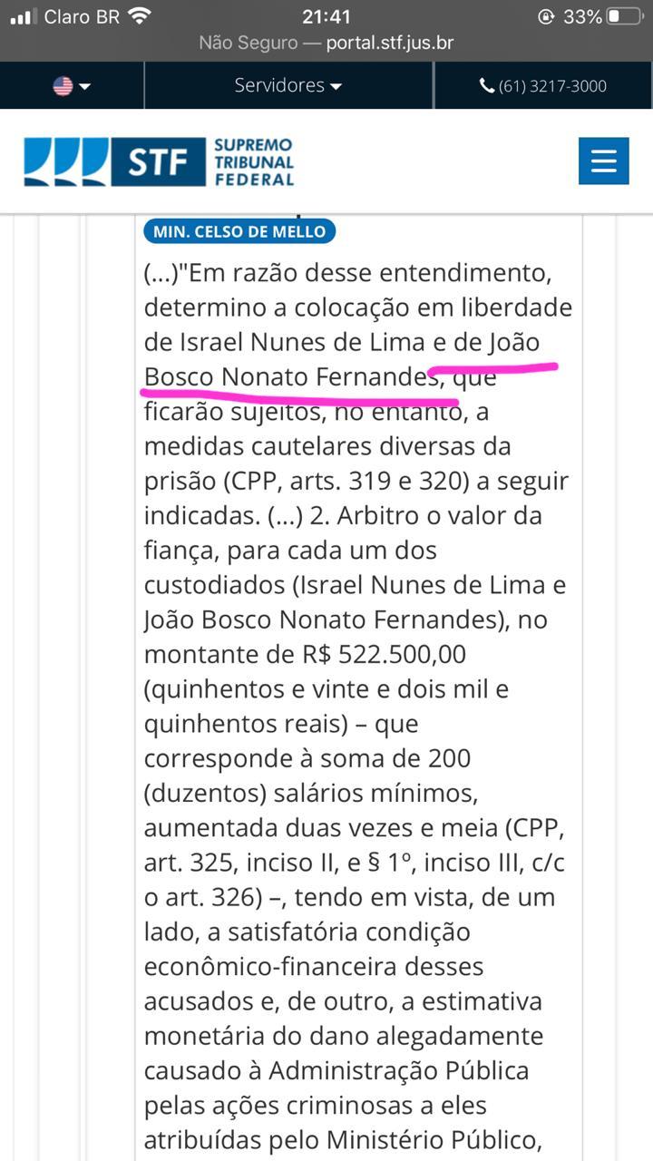 WhatsApp Image 2020 07 03 at 22.40.35 - Prefeito de Uiraúna que foi flagrado colocando propina na cueca é posto em liberdade