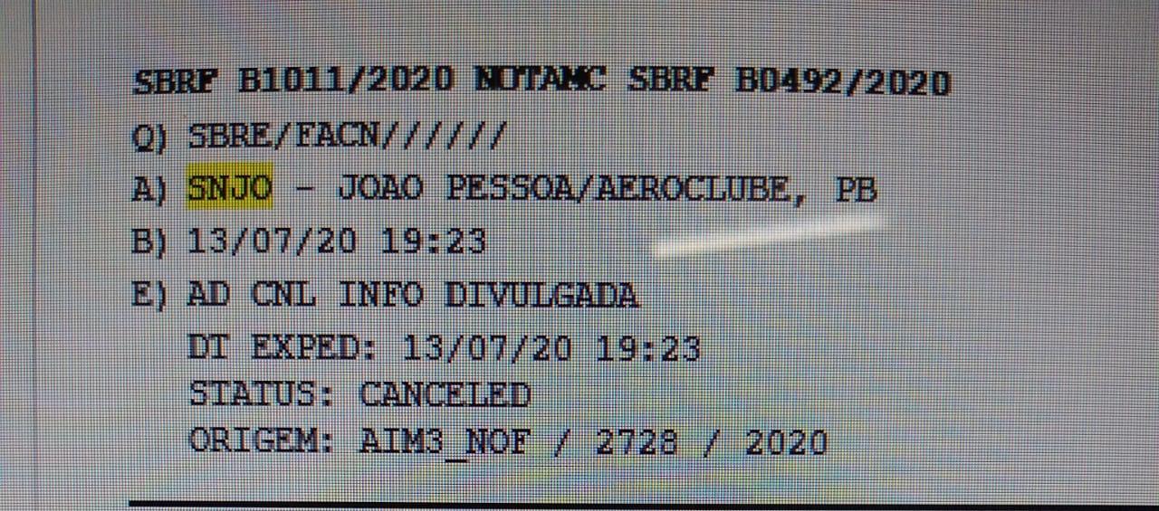 WhatsApp Image 2020 07 24 at 09.57.22 - FIM DA NOVELA: Aeronáutica e ANAC desativam definitivamente o Aeroclube no Bessa - VEJA VÍDEO
