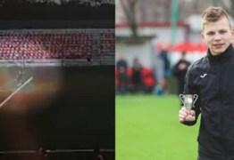 Goleiro russo é atingido por raio durante treinamento e vídeo mostra o momento exato