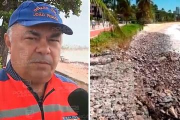 Noé Estrela explica sobre o aparecimento de rochas na Praia de Cabo Branco – VEJA VÍDEO