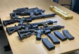 Operação prende arsenal de grosso calibre e trio comandado para realizar roubos e tráfico