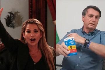my post 16 - Bolsonaro troca afagos com ditadora boliviana, que também está com coronavírus; confira
