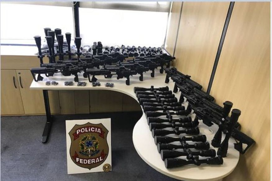 operacao mercado das armas - MERCADO DAS ARMAS: Polícia Federal deflagra operação contra tráfico internacional de armas em oito estados