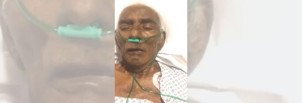 """pinto do acordeon - COMOVENTE: Em leito de hospital, Pinto do Acordeon grava vídeo com filho e diz: """"Eu sou um milagre"""" - ASSISTA"""