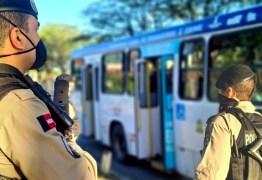 Operação da Polícia Militar reforça a segurança durante a retomada da circulação dos ônibus em João Pessoa e Campina Grande