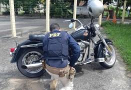 Motocicleta roubada e avaliada em R$ 32 mil é recuperada por policiais rodoviários federais na Paraíba