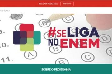 """se liga no enem - Programa """"Se Liga no Enem"""" lança edital com 3.500 vagas abertas na Paraíba"""