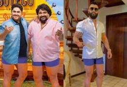 César Menotti e Fabiano ironizam shortinho que Gusttavo Lima usou em live