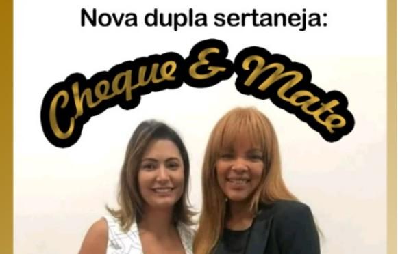 CHEQUE e MATE: Michelle Bolsonaro e pastora Flordelis viram dupla sertaneja em meme das redes