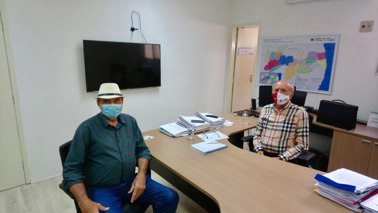 Deputado Jeová Campos e secretário de saúde Geraldo Medeiros - Jeová se reúne com secretário de saúde da PB para elogiar ações de combate a pandemia e pedir implantação do teste do pezinho ampliado