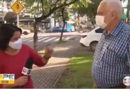'Não tem 100 mil mortes inventadas', diz repórter da Globo para entrevistado