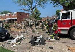 URGENTE: Explosão destrói casas em Baltimore, nos Estados Unidos