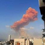 beirut - Grande explosão é registrada no porto da capital do Líbano - VEJA VÍDEO